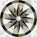Luxury Marble and Gold Compass Sign Seamless Pattern