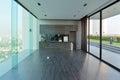 Luxury modern kitchen area and decoration on condominium, interi Royalty Free Stock Photo
