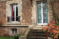 Luxury old stone house - France Royalty Free Stock Photo