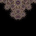 Luxury ornament artwork refined digital photo manipulation in violet orange and white tones Stock Photography