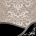 Luxury ornamental background silver and black is presented Stock Photos