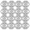 Luxury ornaments, mandalas vint. WHITE -- BLACK Artwork