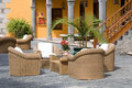 Luxury outdoor furniture Stock Photo