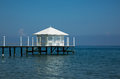 Luxury pavilion on a private pier Royalty Free Stock Photo
