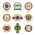 Luxury premium badges. High quality golden crown best choice labels and stamp vector template for certificate and