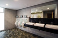 Luxury public restroom interior of a Royalty Free Stock Photography