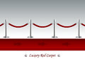 Luxury red carpet with barrier rope vector illustration of a perspective Royalty Free Stock Photography
