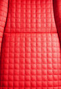 Luxury red leather texture close up Stock Image