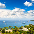 Luxury resort and bay of villefranche french riviera view cote d azur near nice monaco Stock Photos