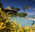 Luxury resort - Cook Islands - South Pacific Royalty Free Stock Photo