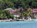 Luxury resorts on the island of nusa lembongan in bali indonesia Stock Images