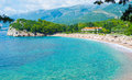The luxury resorts of montenegro villa milocer is one most beautiful budva riviera surrounded by shady park with famous queen s Royalty Free Stock Photography