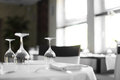 Luxury restaurant in european style new and clean Stock Photos