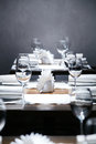 Luxury restaurant in european style new and clean Royalty Free Stock Photography