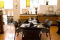 Luxury restaurant interiors Royalty Free Stock Photo