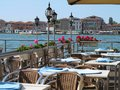 Luxury restaurant with view to Grand canal Royalty Free Stock Photo