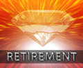 Luxury retirement investment concept Stock Image