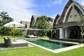 Luxury retreat spa villa and yoga presidential villa Royalty Free Stock Photo