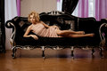 Luxury rich woman like Marilyn Monroe Royalty Free Stock Photo