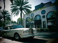 Luxury rolls royce car parked along rodeo drive los angeles california Stock Photography