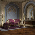 Luxury room with baroque furniture Stock Images