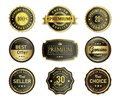Luxury seal labels set stock vector Royalty Free Stock Photo