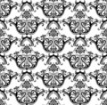 Luxury seamless black & white wallpaper Royalty Free Stock Image