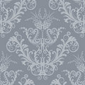 Luxury silver floral vintage wallpaper Royalty Free Stock Photo