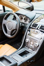 Luxury sports car interior Stock Photography