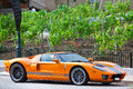 Luxury sports car in monte carlo monaco july ford gtx it is a racing version of ford gt american mid engine two seater Stock Photo
