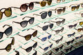 Luxury Sunglasses For Sale In Shop Window Display Royalty Free Stock Photo