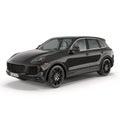 Luxury SUV isolated on white 3D Illustration Royalty Free Stock Photo
