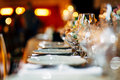 Luxury Table setting. Royalty Free Stock Photo