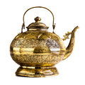 Luxury teapot a vintage indian or philippine isolated on a white background Stock Image