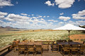 Luxury terrace of a  safari hotel in Namibia Royalty Free Stock Images