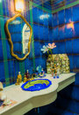 Luxury toilet decorate in marine style interior Royalty Free Stock Photo