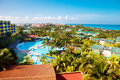 Luxury tropical hotel resort Stock Images