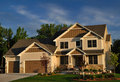 Luxury Two Story Suburban Executive Home Stock Image