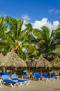 Luxury vacation by the hotel pool caribbean islands dominican republic Royalty Free Stock Photo