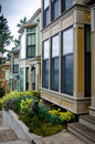 Luxury victorian style homes mcmillan street roche harbor san juan island Royalty Free Stock Photography