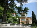 luxury  Villa lake Como Italy Stock Photography