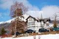 The luxury villa at Strbske Pleso ski resort