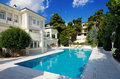 Luxury villa with swimming pool Royalty Free Stock Photo