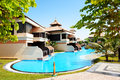 The luxury villas in Thai style hotel on Palm Jumeirah Royalty Free Stock Photo
