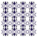 Luxury exotic VINT. Mandalas BLUE ON WHITE