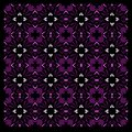 Luxury exotic VINT. Mandalas purple art black vintage elements