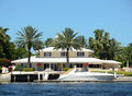 Luxury waterfront home Royalty Free Stock Photo