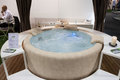 Luxury whirlpool bath at macef home show in milan italy september international point of reference for all those the sector of Stock Images