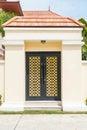 luxury wooden door Royalty Free Stock Photo