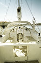 Luxury yacht close up of a Royalty Free Stock Photos